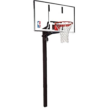 Spalding NBA In-Ground Basketball System 54 Aluminum Trim Glass Backboard (88454G)
