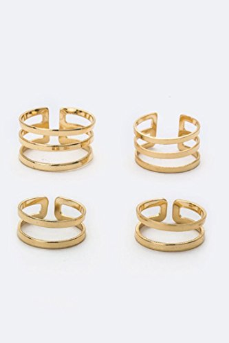 Trendy Fashion Jewelry Mix Metal Bar Rings Set By Fashion Destination | - Palomar Outlets