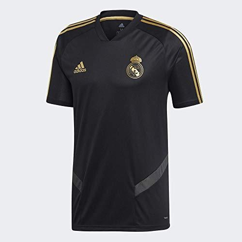 adidas 2019-2020 Real Madrid Training Football Soccer T-Shirt Jersey (Black) (Black Real Madrid Jersey Xxl)