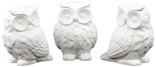 Urban Trends Porcelain Owl Assortment , Matte White