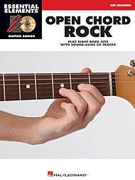 Basic Guitar Only Book Instruction (Hal Leonard Open Chord Rock Essential Elements Guitar Songs Book/CD Mid Beginner)