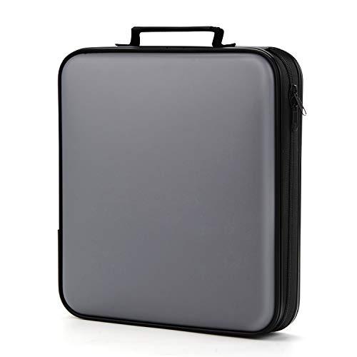 CD Case, COOFIT 160 Capacity DVD Storage DVD Case VCD Wallets Storage Organizer Flexible Plastic Protective DVD Storage Grey