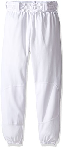 Rawlings Youth Pull Up YBEP31 Baseball Pant, White, Youth Small