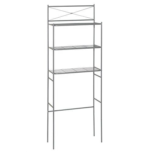 Zenna Home 2523NN, Cross Style Bathroom Spacesaver, Satin Nickel, 23.6 x - Etagere Large