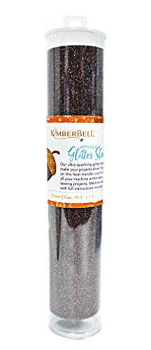 (Kimberbell Glitter Sheets, Brown 19.5in x 7.5in Applique,)