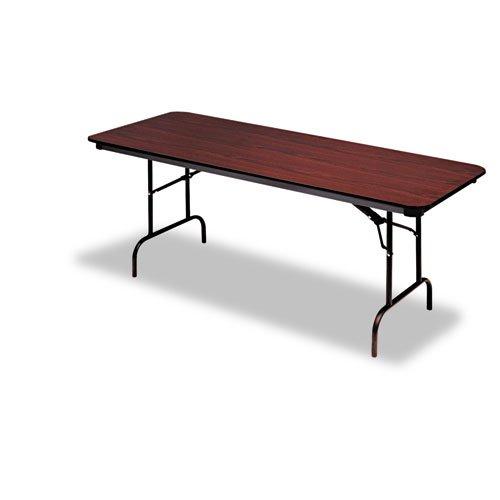 Iceberg ICE55214 Premium Wood Laminate Folding Table with Brown Steel Legs, 30