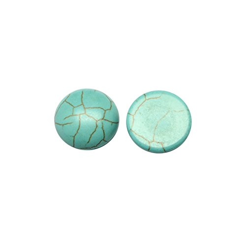 arricraft 100pcs 8mm Synthetic Turquoise Gemstone Flat Back Half Round Cabochons Craft Findings DIY Jewelry Making