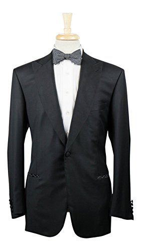 brioni Flaiano Black Wool Peak Lapels Tuxedo Suit Size for sale  Delivered anywhere in USA