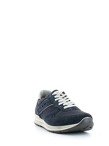 Sneaker in camoscio e tessuto blu N. 42