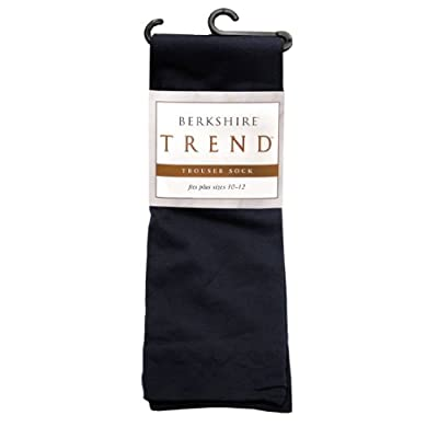 Berkshire Women's Plus-Size Queen Trend Opaque Trouser Socks - Sandalfoot, Black, Queen Size at Women's Clothing store: Dress Socks
