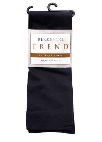 Berkshire Women's Plus-Size Queen Trend Opaque Trouser Socks - Sandalfoot, Black, Queen - Highs Berkshire Knee