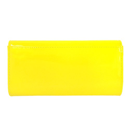 Leather Candy Women's JNB Clutch Patent Yellow wqfpvgE