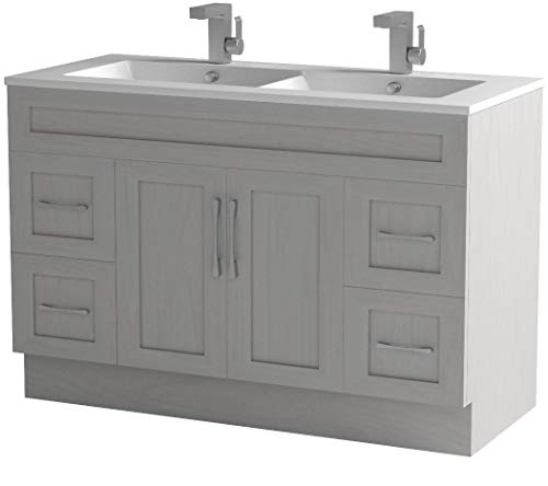 Cutler Kitchen & Bath CCMCTR48DBT Classic Transitional 48 in. Double Bathroom Vanity, Meadows Cove