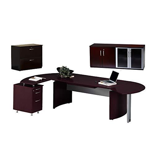 (Safco Products Mayline NT16MAH Napoli Series Suite #16 Desk, Mahogany Veneer)