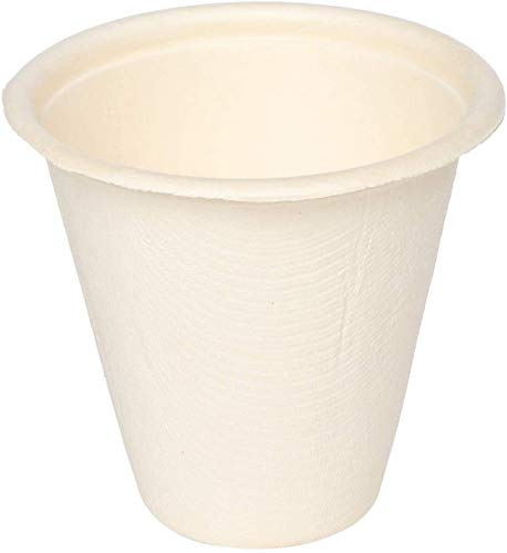 ECOWARE:100% Natural, Biodegradable, Compostable, Ecofriendly, Safe & Hygienic Disposable 220 ml Cup (Pack of 50 Cups)