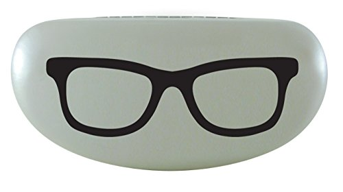 Evolution Eyes Hard Clamshell Sunglass and Eyeglass Frame Print Case, Fits All Frames, Pearl Wayfarer