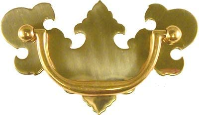 "Antique Hardware Brass Chippendale antique drawer pull 3/""on center"