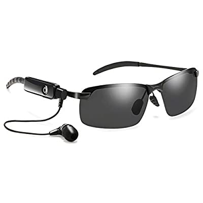 JAY-LONG Bluetooth 4.1 Smart Glasses, Polarized Sunglasses, Stereo, Listening to Music, Answering Calls, Multi-Function Driving Glasses(40g)