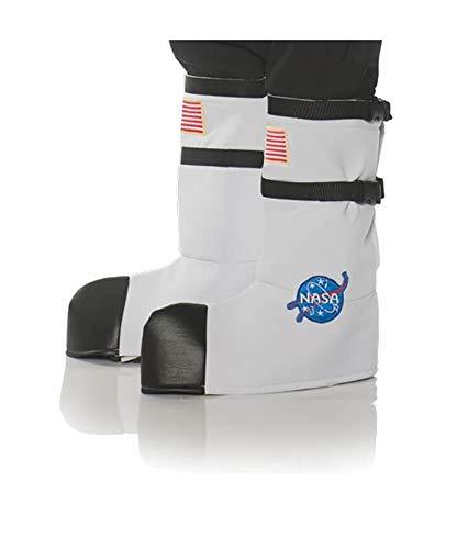 Underwraps Kid's Children's Astronaut Boot Top Covers Costume - White Childrens Costume, White, One -