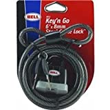 : ARMORY 200 6ft x 8mm Cable + Key Padlock - Black