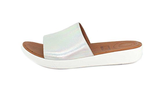 buy cheap factory outlet FitFlop Women's Sola Slides Silver Iridescent outlet store sale online latest sale online best store to get cheap price y78FwPWI
