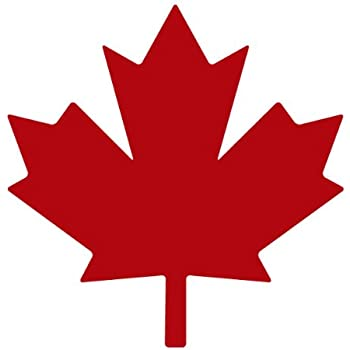 Maple leaf decal sticker size3 0 x 3 0 inches colorred