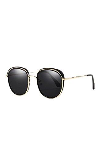 Sol Gafas UV Las Tamaño Espejo Hombres Protección Black De Gafas UV400 De Polarizadas 88qpwE6