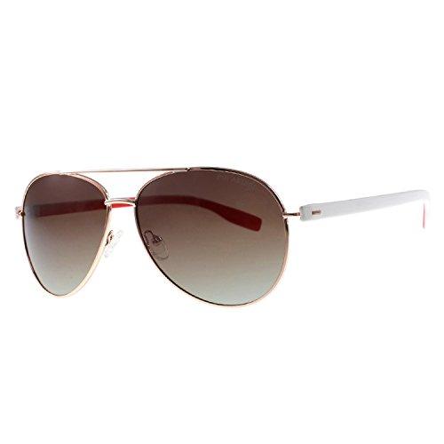 Puissant Fashion Polarized Sunglasses Men's Metal Classic Sunglasses Outdoor Driving Lens,Progressive Tea