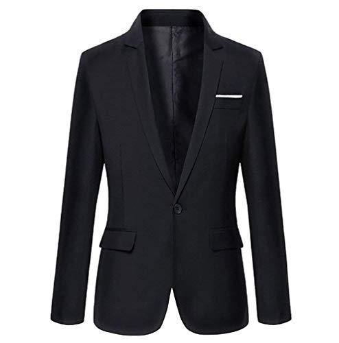 Top Un Autunno 2 Da Con Moderna Casual Schwarz Elegante Uomo Smoking Bottone Haidean Blazer Fit Slim BxqnHXt