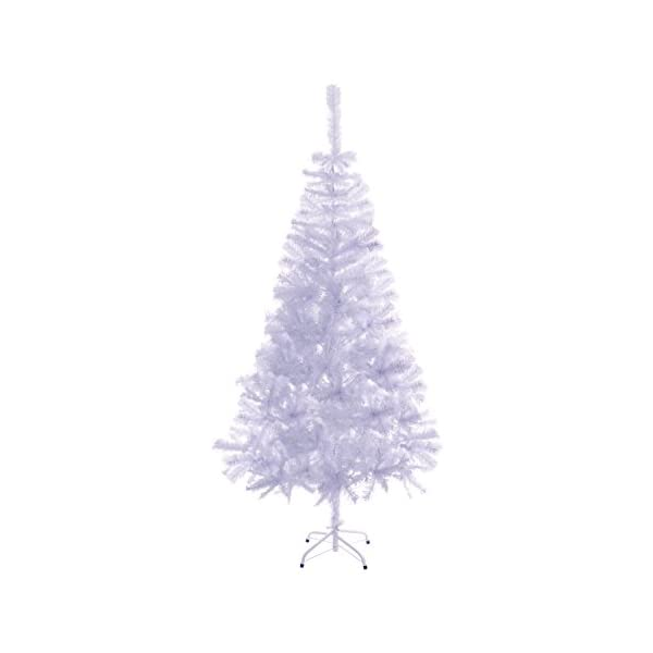 ALEKO-CTW71H13-Artificial-Holiday-Christmas-Tree-Premium-Pine-with-Stand-6-Foot-White
