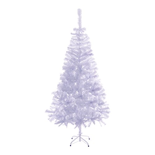 ALEKO® CTW83H13 Luscious 7 Feet Christmas Tree Artificial Holiday Pine Tree  Indoor Holiday Decor, White Color