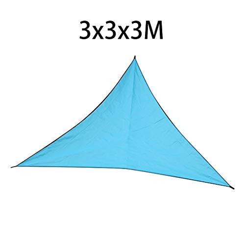 - 1KTon 3x3x3m/4x4x4m Triangle Sun Shade Rainproof Sail Water Canopy - UV Block for Patio and Outdoor