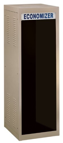BUD Industries ER-16521-RB Steel Non Ventilated Economizer Large Cabinet Rack, 22