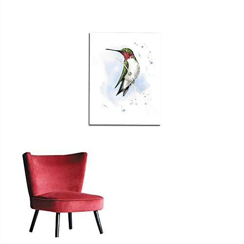 longbuyer Wall Paper Alert Perched Hummingbird Mural 32