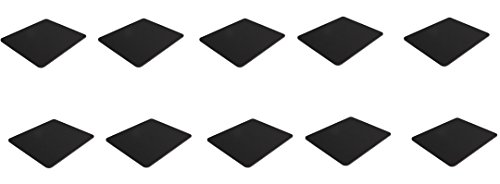 10 Pack Black Mouse Pad Fabric W/ Rubber Backing 8x9x25in