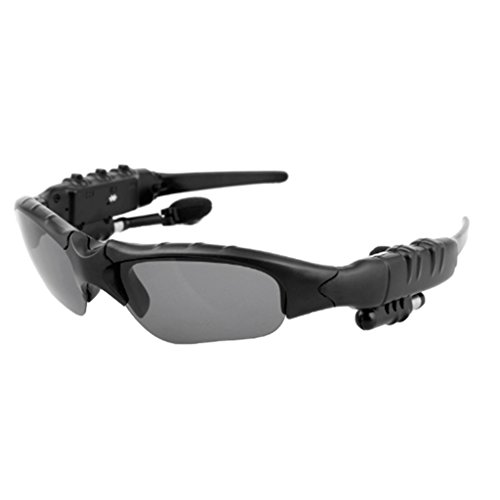 MonkeyJack Sports Bluetooth Sunglasses with Polarized Lens Smart Wireless Stereo MP3 Music Hand-free Headset Headphones with Microphone for Cycling Riding Running Hiker - Sunglasses Bluetooth Mp3