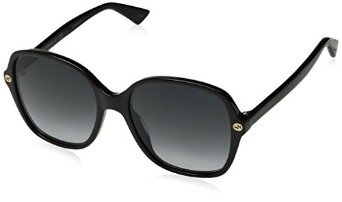 Gucci GG0092S 001 Black GG0092S Square Sunglasses Lens Category 3 Size - Gucci Sunglasses Black Square