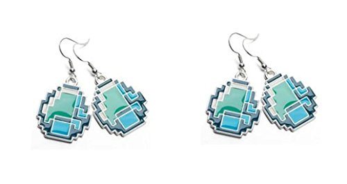 Official Licensed Minecraft Diamond Earring x 2 Pairs (Minecraft Costumes Kids)