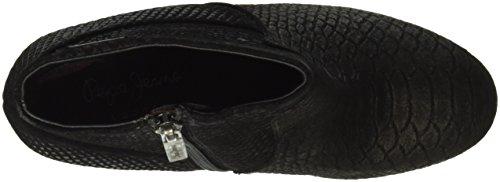 Dylan Damen Snake Basic Pepe Schwarz Black 999 Kurzschaft Jeans Stiefel E5SqB
