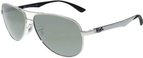 Ray-Ban Men's Aviator RB8313-003/40-58 Silver Aviator Sunglasses