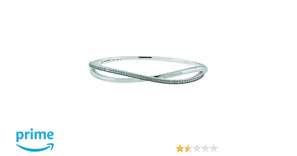 bf423372b Amazon.com: Pandora Entwined Bracelet, Clear CZ 590533CZ-3, 19 Centimeter  7.5 Inch: Jewelry
