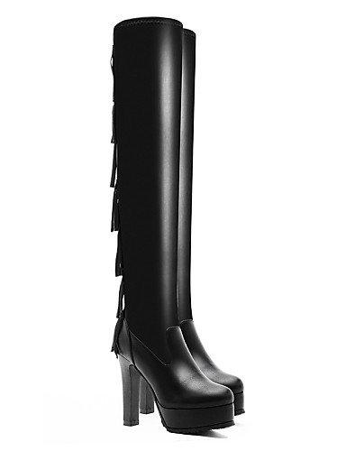 us6 Mujer us8 Casual Tacón La A Botas Y Cn36 Zapatos Negro Noche Fiesta De Stiletto Uk6 Sintético Xzz Black Uk4 Eu36 Cn39 Vestido Moto Eu39 Black Moda UqtPxgEwx