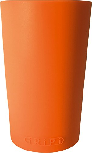 Grip Tumbler (GRiPi Sleeve for YETI Cooler Tumbler (Sunset Orange) Silicone Grip for 20 oz. or 30 oz. Drinks | Colorful, Personalized Insulated Cup Cover)