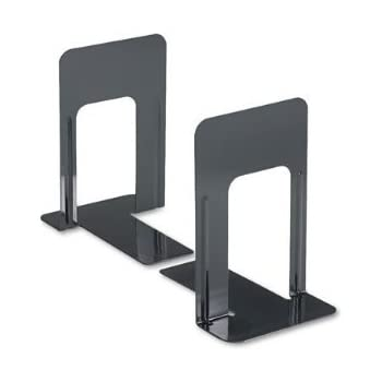 """Jumbo Deluxe Metal Bookend (9"""") 4 Pairs/Sets"""