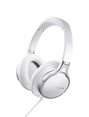 Sony MDR-10RNC Premium Noise-Canceling Over-Ear Wired Headphones with In-Line Remote, 6Hz-24kHz, 24Ohms at 1kHz Passive mode Impedance, 40mm Driver, White