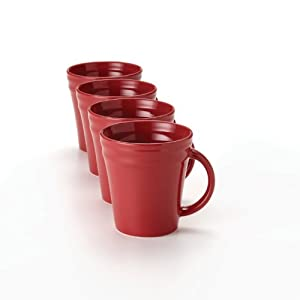 Rachael Ray Dinnerware Double Ridge Mug Set, 4-Piece