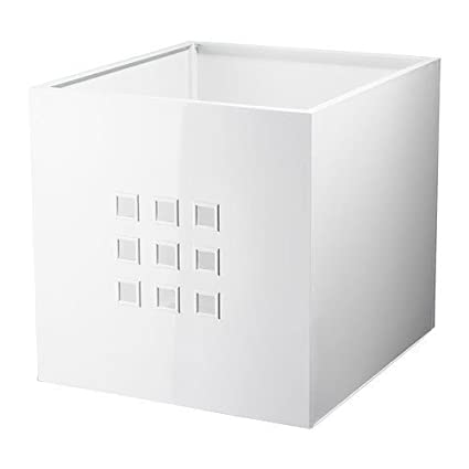 Ikea contenitore Lekman, bianco (per scaffali Expedit): Amazon.it ...