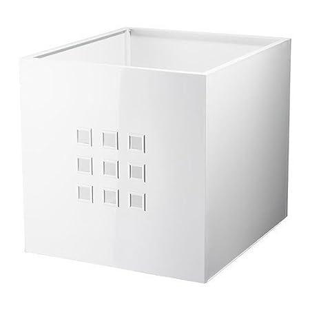 Contenitori Per Scaffali Ikea.Ikea Contenitore Lekman Bianco Per Scaffali Expedit Amazon It