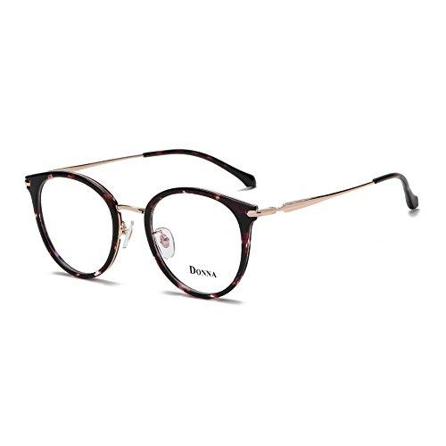 Donna Vintage Fashion Eyeglass Round Frame Unisex Computer Reading Glasses DN48-AFB
