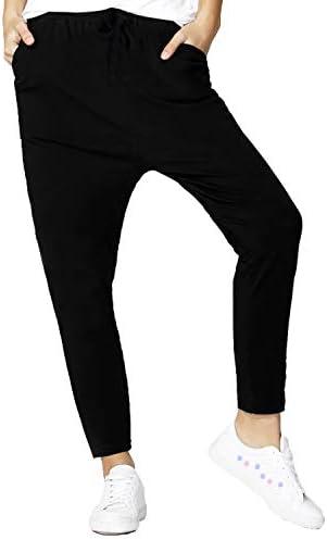 PETALIN Womens Elastic Drawstring Pockets